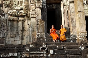 Monks at Bayon Temple
