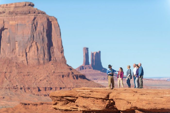 Group on a tour of Monument Valley