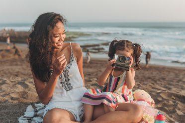 Family on Beach in Bali