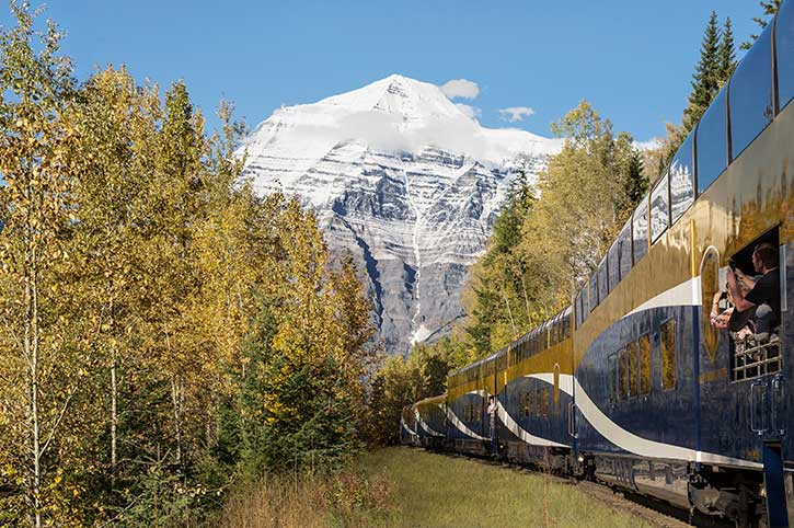 Mount Robson from Gold Leaf Rocky Mountaineer