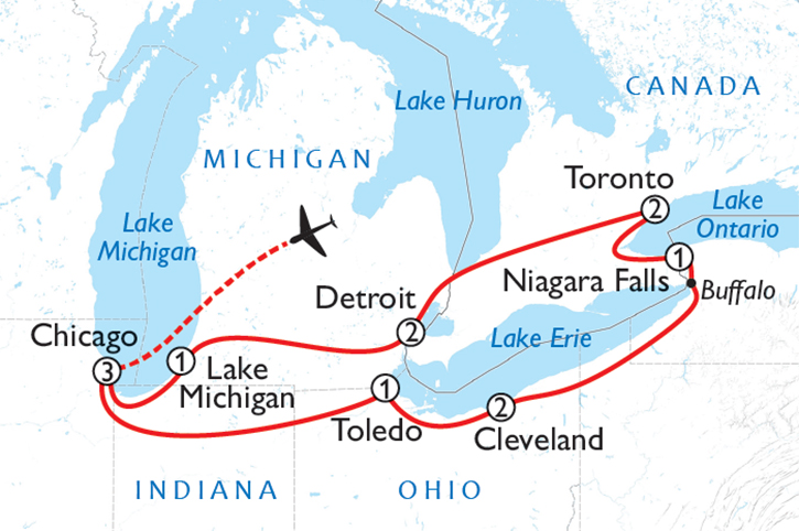 Music of the Great Lakes Map