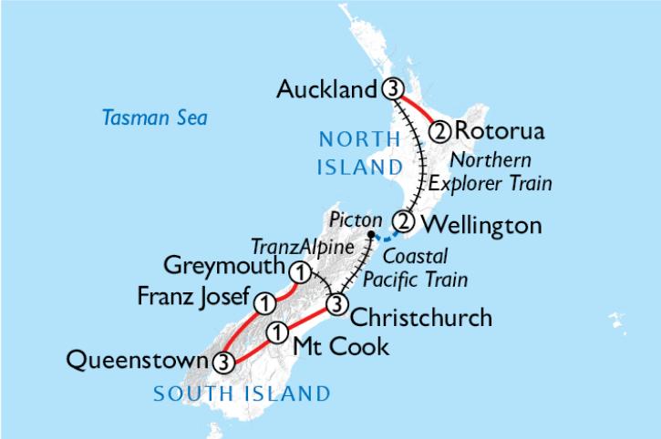 Road & Rail Map