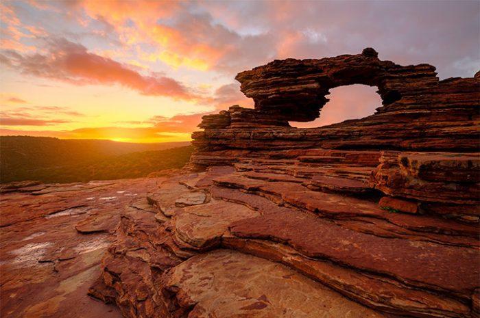 Sunrise at Nature's Window, Kalbarri National Park