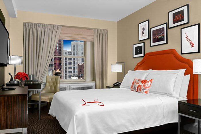 New York Lexington Hotel Double Bedroom