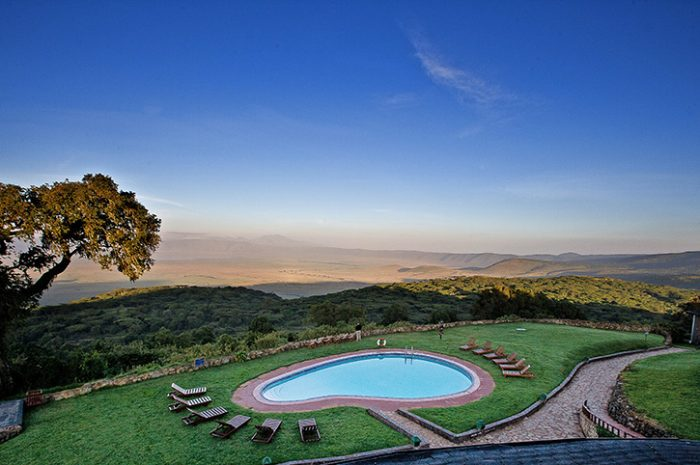 Ngorongoro Sopa pool and view