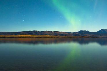 Northern Lights At Calm Lake, Canada