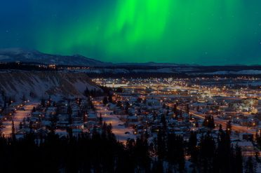 Northern Lights Over Whitehorse, Canada
