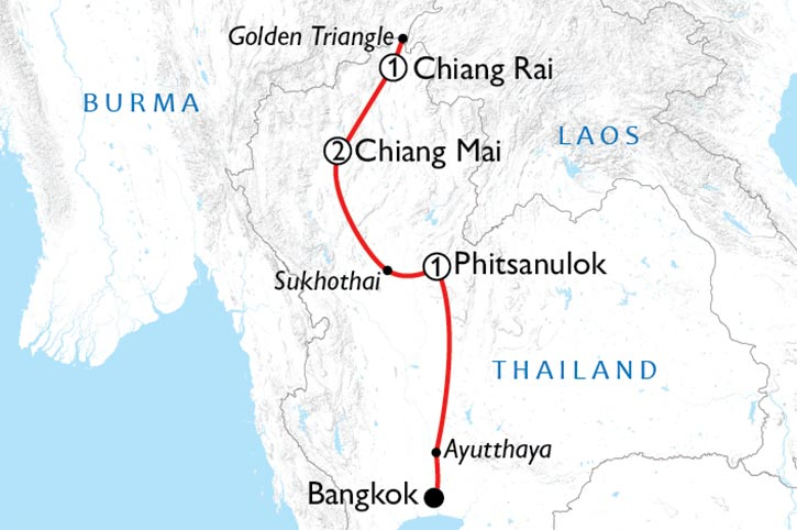 Northern Thailand Discovery Map