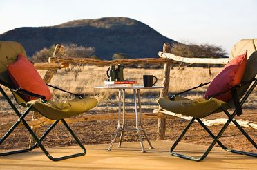 Okonjima Plains Camp Private Veranda