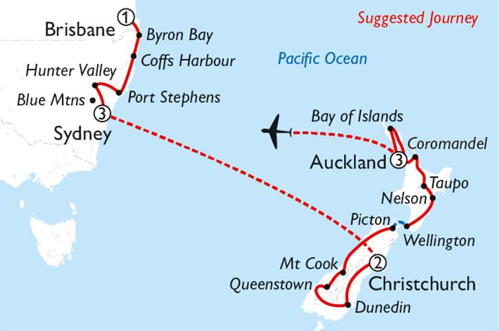 Oz & NZ Adventure Map
