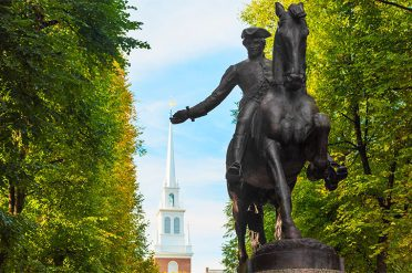 Paul Revere's Monument, Boston, Massachusetts