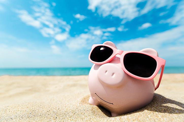 Piggy Bank at the Beach