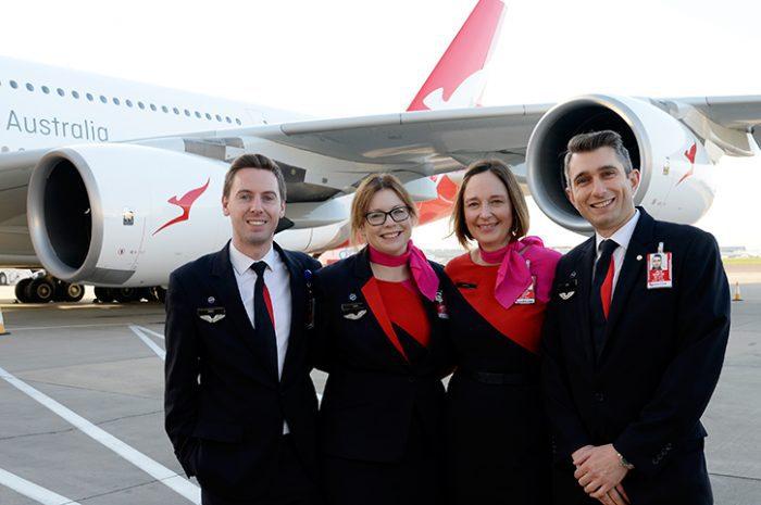 Qantas crew
