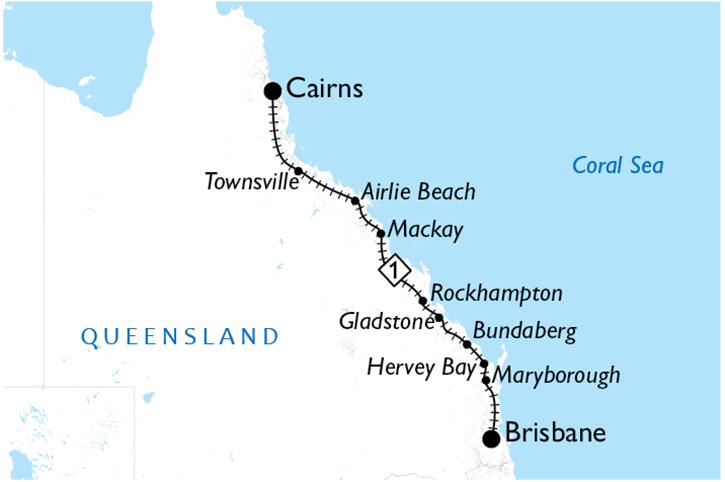Queensland Rail Pass Map