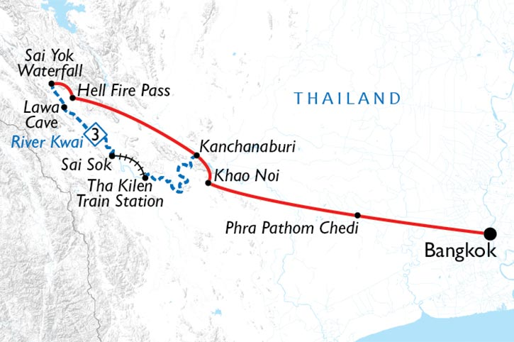 River Kwai Cruise Map