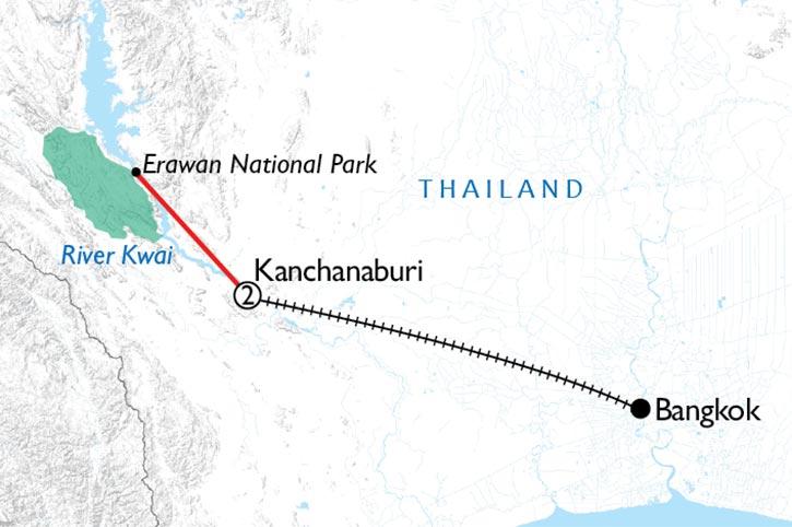 River Kwai Rail Escape Map