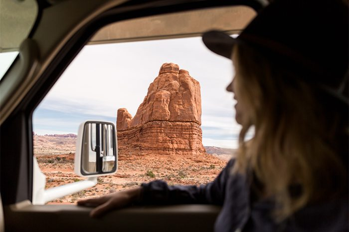 Motorhome at Monument Valley