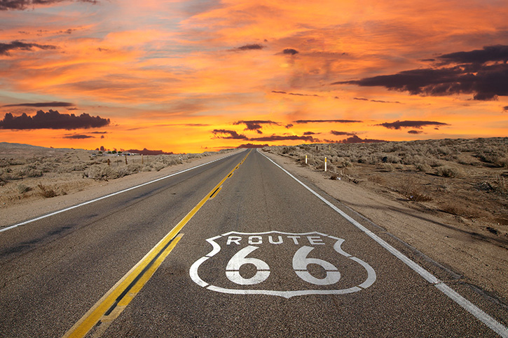 Route 66 Sunset