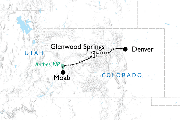 Rockies to the Red Rocks Map