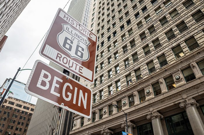 Route 66 Sign, Chicago