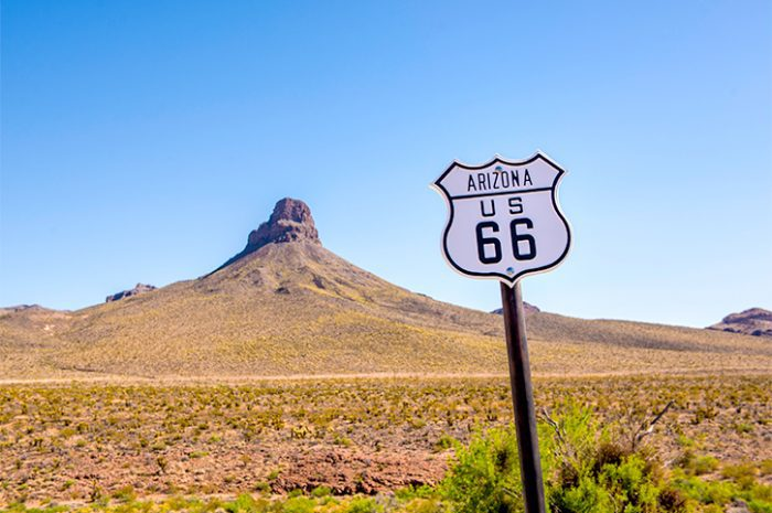 Route 66 Sign in Arizona