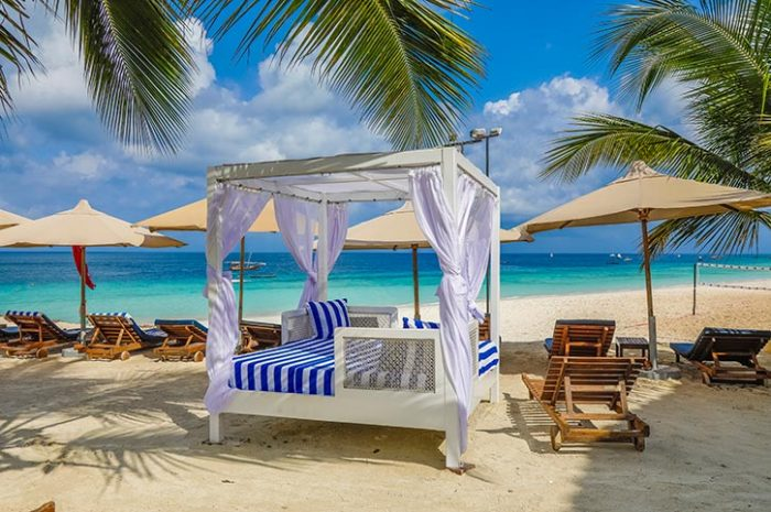 Beach loungers, Royal Zanzibar Beach Resort