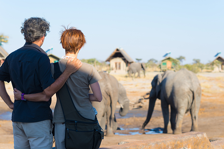 Safari Couple with Elephants KENYA Africa