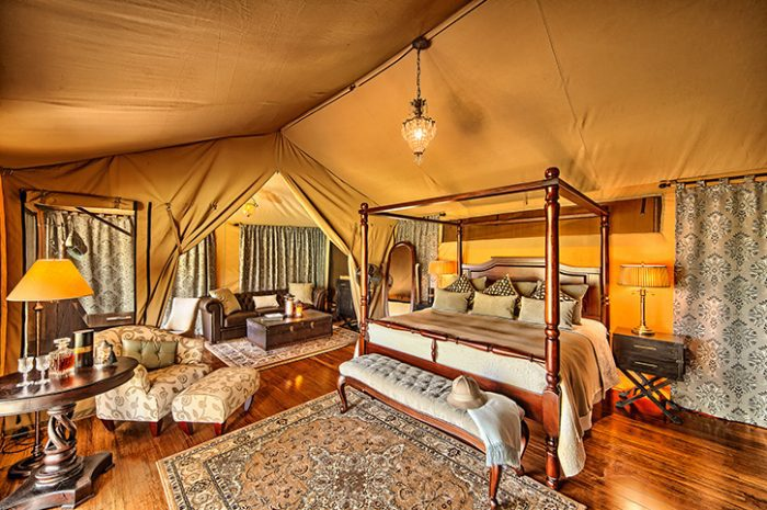 Sand River Tent Interior