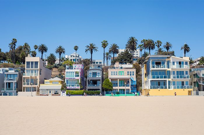 Santa Monica Beach Houses, California