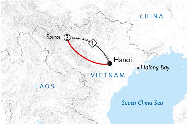 Sapa by Train Map