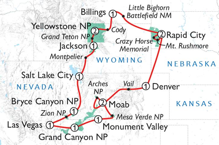 Scenic Parks Explorer Tour Map