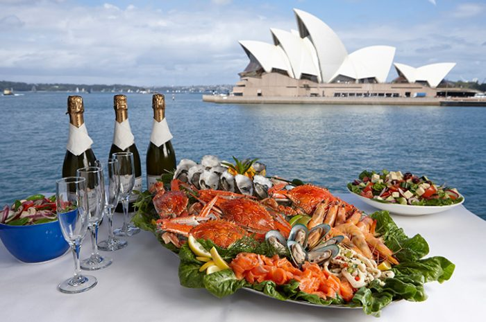 Seafood Platter On Sydney Harbour Cruise