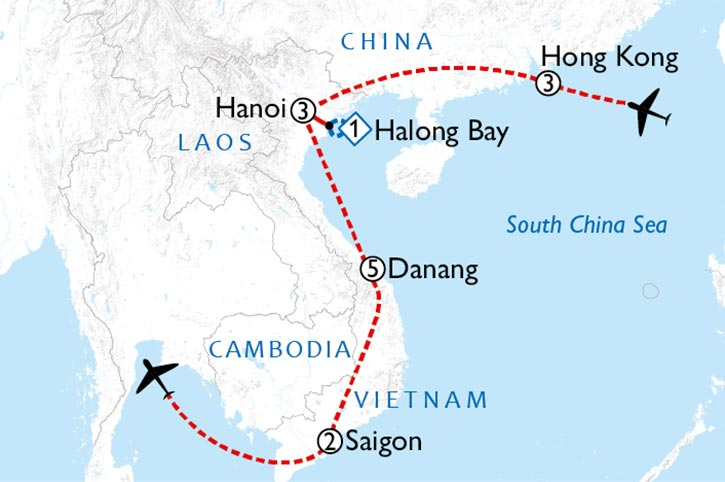 Sensation Hong Kong And Vietnam Map
