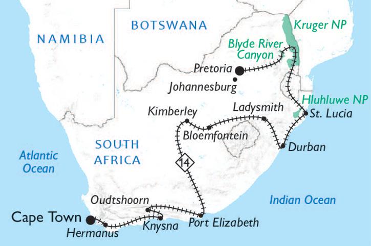 Shongololo Train Map
