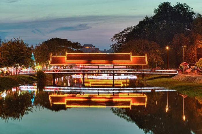Siem Reap River By Night
