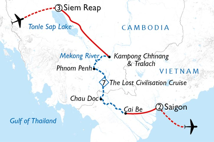 Siem Reap To Saigon Map