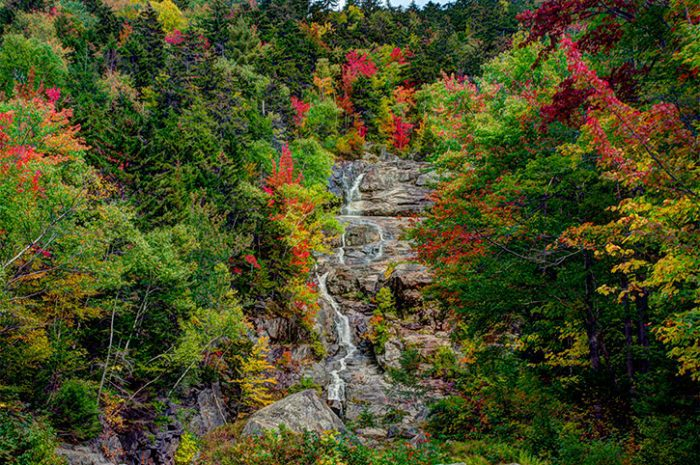 Silver Cascade Waterfall, New Hampshire
