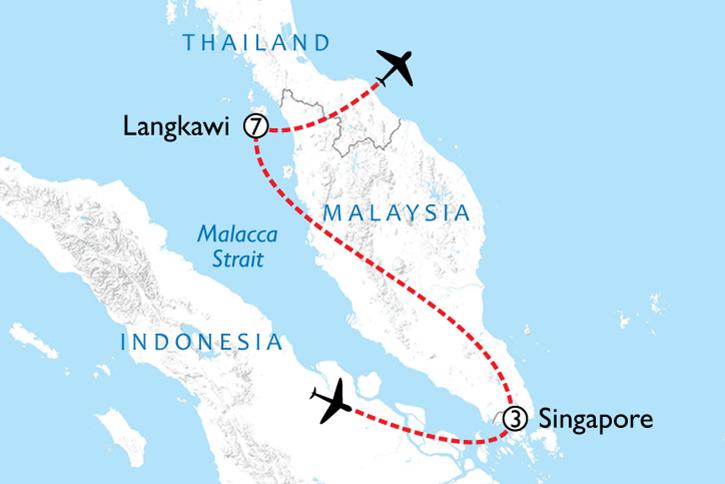 Singapore & Langkawi Map