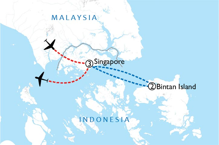 Singapore And Bintan Special Map