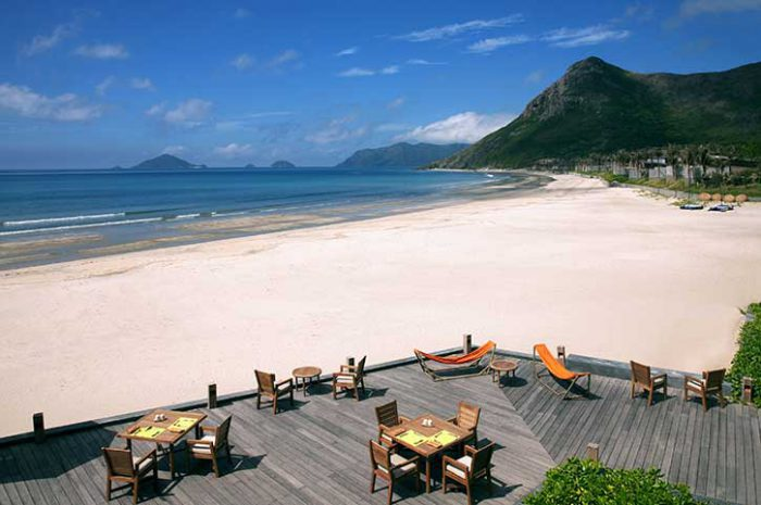 Six Senses Con Dao Deck by the Beach