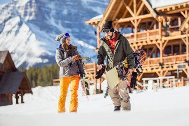Skiier Couple, Lake Louise