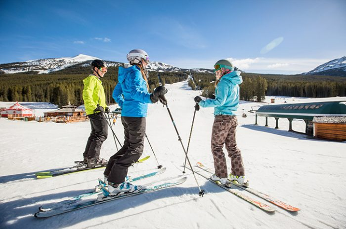 Skiers, Lake Louise Ski Resort