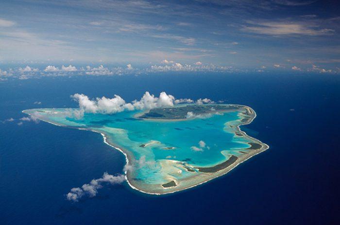 Sky View Of Aitutaki Island