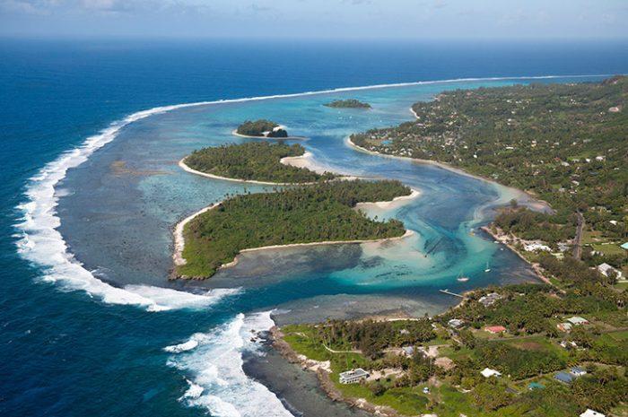 Sky View Of Rarotonga Island