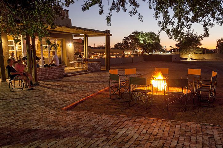 Sossusvlei Lodge Evening Fire