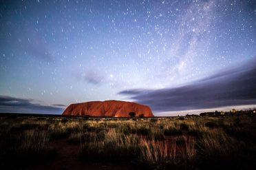 Ayers Rock at Night