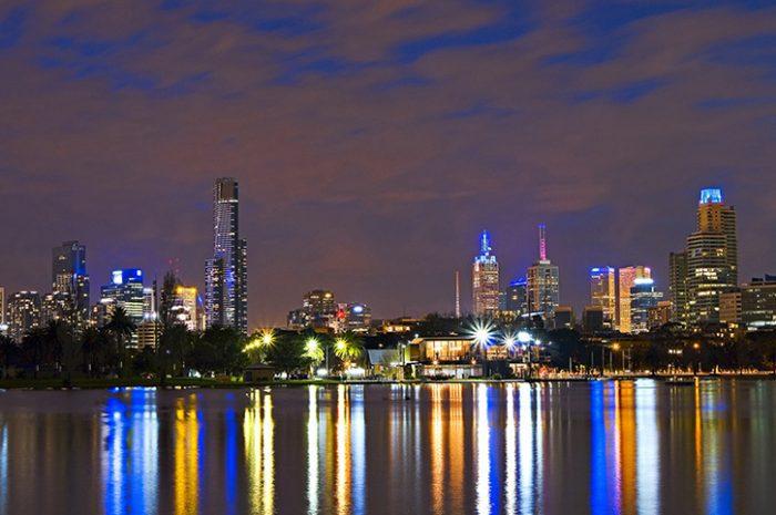 Southern City Rail Escape Melbourne Skyline