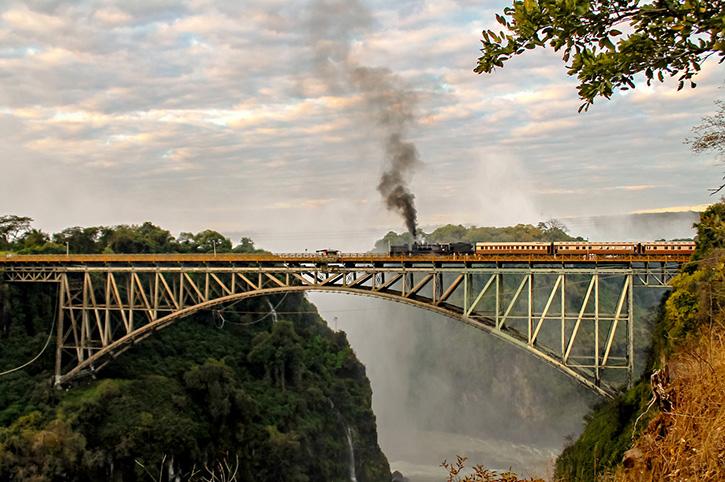 Steam train, Victoria Falls