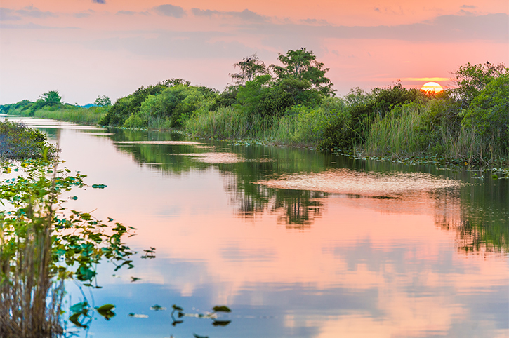 Sunset in Everglades National Park