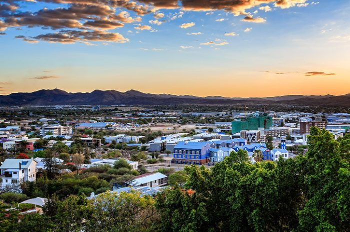 Sunset Over Windhoek, Namibia